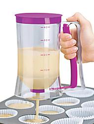 cheap -900ml Batter Flour Paste Dispenser For Cupcakes Cookie Cake Muffins Measuring Cup Cream Speratator Pancake Batter Dispensers
