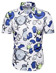 voordelige -Heren Geometrisch Print Overhemd Hawaii Dagelijks blauw / Rood