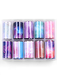 cheap -10 pcs Full Nail Stickers Galaxy nail art Manicure Pedicure Special Design / Water Resistant / Ergonomic Design Romantic / Sweet Daily / Festival