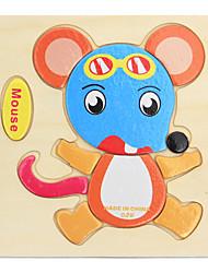 cheap -Educational Flash Card Fidget Desk Toy Building Blocks Fruit Animals Wooden 9 pcs Cartoon Adults' Girls' Toy Gift