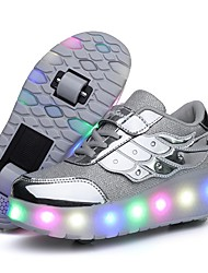 cheap -Girls' LED Shoes PVC Trainers / Athletic Shoes Little Kids(4-7ys) Black / Pink / Gold Summer