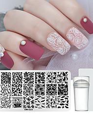 tanie -1 * 3 szt. Stempel do stempla do paznokci&skrobak szablon totem seria recyklingu paznokci zdobienie manicure koreański / słodkie codziennie