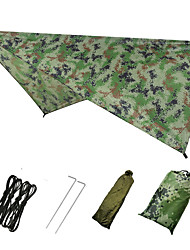 cheap -Hammock Rain Fly Outdoor Breathability Wearable Reusable Adjustable Flexible Folding Polyster for 2 - 3 person Hunting Beach Camping Blue Camouflage Green 230*140 cm