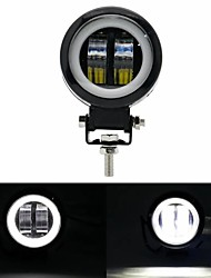 cheap -3inch 12/24V 6500K 20W Round LED Work Light With White Angel Eyes Lights Spot Fog light For Car Boat Motorcycle