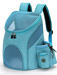 cheap -Dog Cat Pets Carrier Bag Travel Backpack Travel Bag Dog Backpack Travel Carrier Bag Portable Breathable Durable Solid Colored Nylon puppy Small Dog Outdoor Hiking Black Black Blue