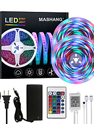 cheap -Bright RGBW LED Strip Lights 32.8ft 10M Waterproof RGBW Tiktok Lights 2340LEDs SMD 2835 with 24 Keys IR Remote Controller and 100-240V Adapter for Home Bedroom Kitchen TV Back Lights DIY Deco