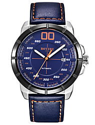 cheap -BOYZHE Men's Sport Watch Automatic self-winding Modern Style Sporty Leather Black / Brown / Ink Blue 30 m Water Resistant / Waterproof Calendar / date / day Shock Resistant Analog Casual Outdoor -