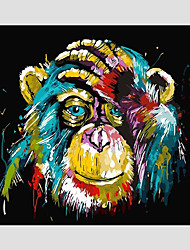 """cheap -Paint by Number Kit for Adults Kids Beginner DIY Canvas Painting by Numbers for Home Decoration Colorful Animal 16""""x20"""" No Frame"""