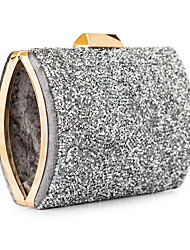 cheap -Women's Bags Polyester Evening Bag Sequin Chain Solid Color Glitter Shine Party Wedding Event / Party Evening Bag Wedding Bags Handbags Black Gold Silver