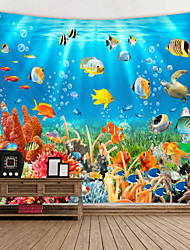 cheap -Wall Tapestry Art Decor Blanket Curtain Picnic Tablecloth Hanging Home Bedroom Living Room Dorm Decoration Animal Fish Underwater World