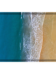 cheap -Blue Ocean Digital Print Non-Slip Long Bathroom Rugs Machine-Washable Soft Microfiber Floor Rugs