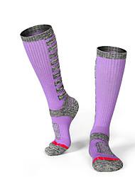 cheap -R-BAO Hiking Socks Socks 1 Pair Breathable Warm Sweat-wicking Comfortable Chinlon Elastane Autumn / Fall Spring Winter for Women's Ski / Snowboard Fishing Climbing Purple Fuchsia