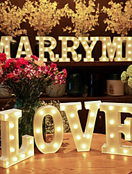 cheap -Plastic Letter LED Night Light Marquee Sign Alphabet Lights Lamp Home Club Outdoor Indoor Party Wedding Home Decoration