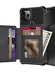 cheap -Wallet phone case with phone clip suitable for iPhone SE (2020) 11 11 Pro Max XR XS Max X 8 7 6 6S Plus PU leather back cover suitable for Samsung Note 10