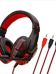 cheap -Professional Led Light Gaming Headphones for Computer PS4 Adjustable Bass Stereo PC Gamer Over Ear Wired Headset With Mic