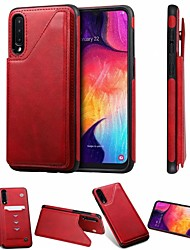 cheap -Case For Samsung Galaxy Samsung Galaxy A50 / Samsung Galaxy A50s / Samsung Galaxy A30s Card Holder / with Stand / Magnetic Back Cover Solid Colored PU Leather