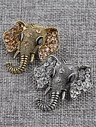 cheap -Brooches Elephant Animals Brooch Jewelry Gold Silver For Daily Wear