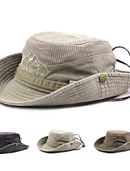 cheap -Sun Hat Fishing Hat Hiking Hat Hat Windproof Sunscreen UV Resistant Breathable Cotton Spring Summer for Men's Women's Camping / Hiking Hunting Fishing Black Army Green Khaki