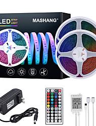 Недорогие -Mashang 32.8ft 10 м светодиодные полосы света RGB TIKTOCK водонепроницаемый 600 светодиодов SMD 2835 с 44 клавишами ик-пульта дистанционного управления и 100-240 В адаптер для домашней спальни кухня