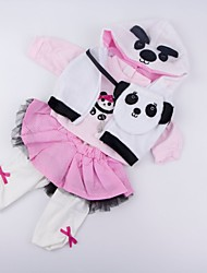 cheap -Reborn Baby Dolls Clothes Reborn Doll Accesories Cotton Fabric for 20-22 Inch Reborn Doll Not Include Reborn Doll Panda Soft Pure Handmade Girls' 4 pcs