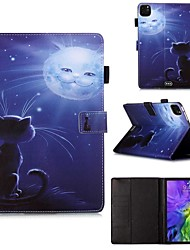 Недорогие -чехол для apple ipad pro 11 '' (2020) / ipad 2019 10.2 / ipad air3 10.5 '2019 кошелек / держатель для карты / с подставкой для всего корпуса чехлы из искусственной кожи сова фиолетовый / тпу для ipad