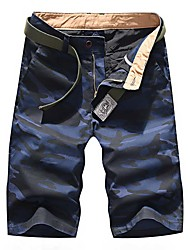 cheap -Men's Basic Daily Chinos Shorts Pants - Camouflage Breathable Blue Army Green Brown US32 / UK32 / EU40 / US34 / UK34 / EU42 / US36 / UK36 / EU44
