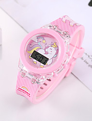 cheap -Kids Digital Watch Digital Digital Sporty Stylish Fashion Chronograph Cute LED Light / Silicone