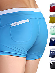 cheap -Men's Swim Shorts Swim Trunks Cotton Board Shorts Breathable Quick Dry Drawstring - Swimming Leisure Sports Beach Patchwork / Stretchy / Athleisure