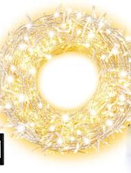 levne -15 m Světelné řetězy 100 LED diody Dip LED 1 13Keys dálkového ovladače 1 sada Teplá bílá / Přirozená bílá Halloween / Vánoce Voděodolné / Ozdobné / Vánoční svatební dekorace 110-240 V