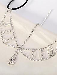 cheap -Women's Hair Jewelry For Gift Festival Flower Cord Imitation Diamond White 1pc