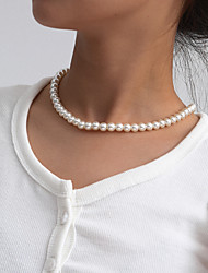 cheap -Women's Necklace Elegant Fashion Imitation Pearl White 52 cm Necklace Jewelry For Party Evening Masquerade Beach