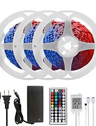 cheap -MASHANG 15M(3*5M) LED Strip Lights RGB Tiktok Lights 450LEDs Flexible Color Change SMD 5050 with 44 Keys IR Remote Controller and 100-240V Adapter for Home Bedroom Kitchen TV Back Lights DIY Deco