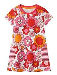 cheap -Kids Little Girls' Dress Floral Blushing Pink Dresses