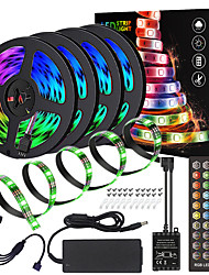 cheap -Waterproof High-Quality Black PCB 20M(4x5M) Music Timing Synchronous Control Flexible Light Bar 5050 RGB  IR 40 Key Controller with12V 8A Adapter Kit