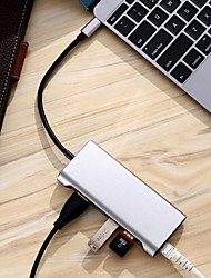 cheap -6-in-1 Usb 3.1 Hub Type-C to USB 3.0 * 3  HDMI 4K  RJ45  PD Multi-Functional HD Docking Station for MacBook PC Millet Tablet
