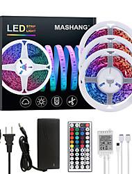 cheap -15M(3x5M) LED Strip Lights RGB Tiktok Lights 900LEDs Flexible Color Change SMD 2835 with 44 Keys IR Remote Controller and 100-240V Adapter for Home Bedroom Kitchen TV Back Lights DIY Deco