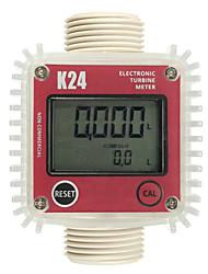 Недорогие -K24 Turbo цифровой расходомер расходомер дизельного топлива воды Plomeria расходомер турбинный расходомер caudalimetro датчик вертикальный