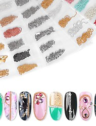 cheap -6 pcs Novelty / Durable Metal Alloy Nail Jewelry For Finger Nail Creative nail art Manicure Pedicure Party / Evening / Birthday Party Elegant / Punk