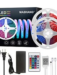 Недорогие -Mashang светодиодные ленты 32.8ft 10m RGB TIKTOCK 300LEDS SMD 5050 с 24 клавишами ик-пульта дистанционного управления и адаптером 100-240 В для домашней спальни кухня ТВ-подсветка DIY деко