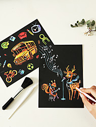 cheap -Drawing Toy Scratch Art Set Magic Scratch Paper Cartoon Animal Pure Paper Painting Creative Kid's Boys and Girls for Birthday Gifts or Party Favors