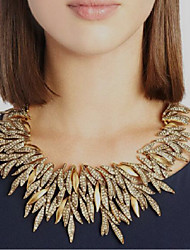 cheap -Women's Collar Necklace Leaf Statement Chrome Gold Silver 50 cm Necklace Jewelry For Festival