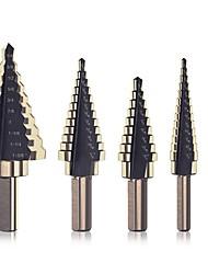 cheap -5 Piece Set Inch Step Drill Bit Set Set Step Drill Steel Plate Drill Twist Drill