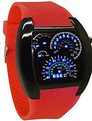 Недорогие -Жен. Спортивные часы На открытом воздухе Цветной силиконовый Цифровой Белый Черный Красный Защита от влаги Фосфоресцирующий Аналоговый