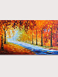 cheap -Mintura Large Size Hand Painted Abstract Knifr Trees Landscape Oil Paintings On Canvas Modern Posters Wall Picture For Home Decoration No Framed Rolled Without Frame