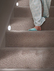 cheap -1pc LED Night Light With PIR Motion Sensor Easy Install Cordless Wall Closet Stair Lamp Lighting
