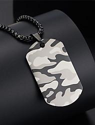 Недорогие -Ожерелья с подвесками Простой модный Мода Хип-хоп Титановая сталь Серый 60 cm Ожерелье Бижутерия 1шт Назначение Годовщина Для улицы фестиваль