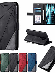 cheap -Leather Case For Xiaomi Redmi 8A 8 7A 7 Note 7 8 9 Pro Max 8T K30Pro k20  Mi 10 9T 9 Lite CC9E Note 10 CC9Pro Poco F2 Pro Wallet Flip Cover Magnet Colorblock Bag