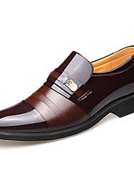 cheap -Men's Spring / Summer Classic Daily Oxfords Patent Leather Black / Brown