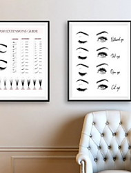 cheap -Lash Extensions Technician Guide Posters and Prints Makeup Wall Art Picture Decor Eyelash Business Form Art Canvas Painting