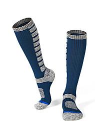 cheap -R-BAO Hiking Socks Socks 1 Pair Breathable Warm Sweat-wicking Comfortable Chinlon Elastane Autumn / Fall Spring Winter for Men's Ski / Snowboard Fishing Climbing Black Dark Blue